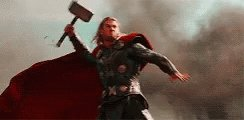 When Mjölnir hits your eye and then you start to cry that a Thor eh? #thor #marvel #thorloveandthunder