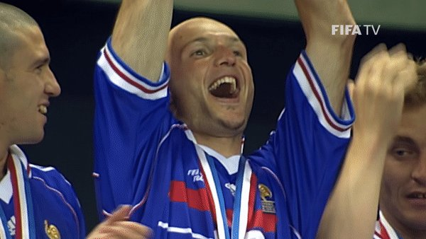 """🗣️ """"Everyone was saying, 'Against Ronaldo, how are we going to win without Laurent Blanc?' Then I made the first tackle on Ronaldo, the crowd roared and I knew it was our day.""""  🎊 Happy birthday to @FrenchTeam #WorldCup winner, Frank Leboeuf"""