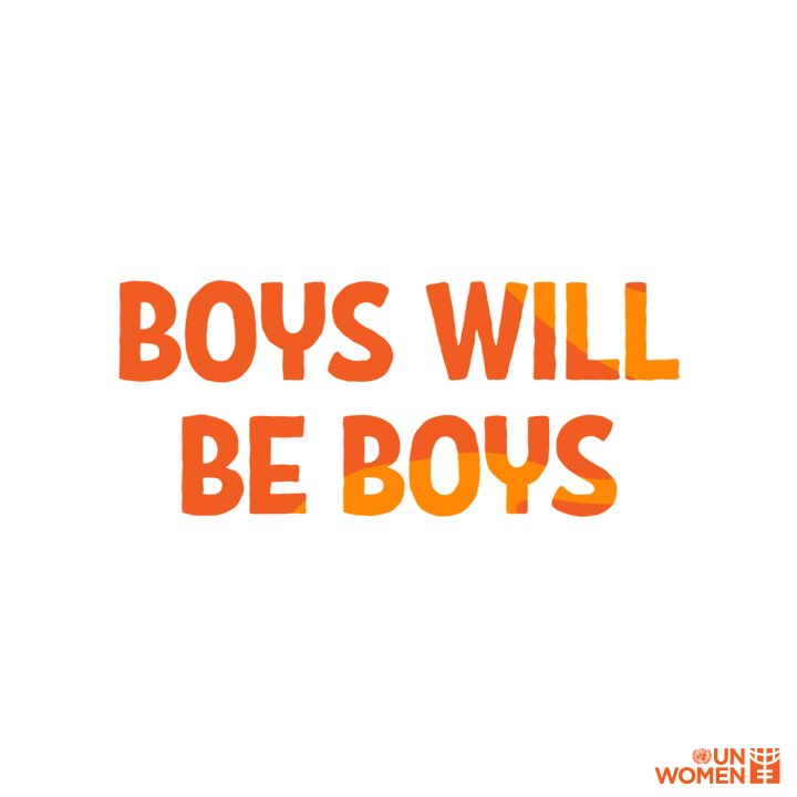 Let's teach our boys about respect. #GenerationEquality