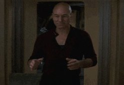 You know why Captain Picard is such a great rapper? He follows the rhyme directive.