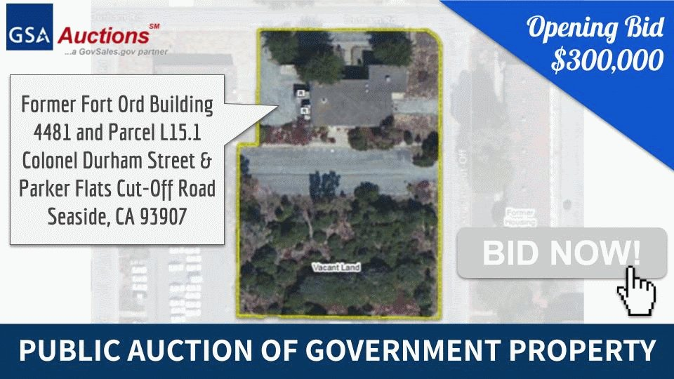 🆕 Bidding started today on this hot property in #SeaSide, CA! GSA is auctioning 1.67 acres of prime commercial #realestate next to @CSUMB.  ▶️ View the auction details and place your bid online at https://t.co/2y9nEsZhGP! #GSASeasideSale #JustListed #MontereyRealEstate @US_GSAR9