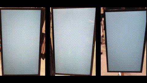 Perfume Closetポップアップショップの3台のモニター、もしかしたらと思って撮ったやつを並べてみたら案の定だった☺️