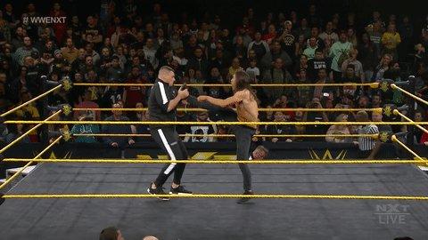 Those @WalterAUT chops... ...yep. Still lethal. #WWENXT #WorldsCollide