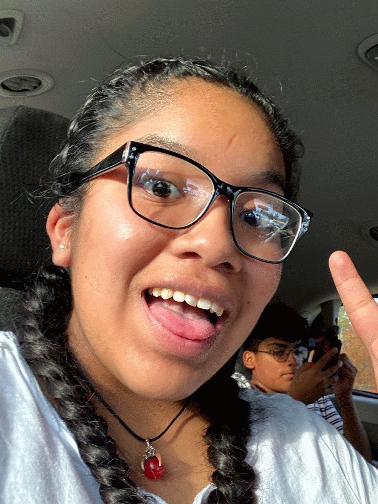 Hiiiii- My name is Daisy - I'm 18- My lane is Sergio's- I live in Kentucky - I'm a nursing student and I love listening to music  #IRLWorldWide @InRealLifePs the only selfie I could find 😅😬😂