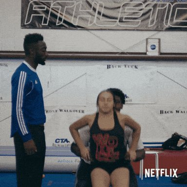 Love how dedicated @Jerry_K2TR is to his training and fitness. Workout with us?! 😩💜 #CheerNetflix #CheerDistrict
