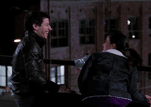 Happy anniversary of the time that Amy flirted with Jake for 20 seconds and he became obsessed with her forever.