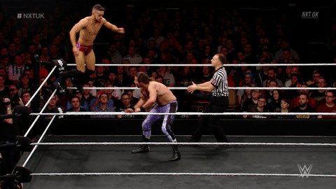 Replying to @NXTUK: Whenever we see @AKidWrestler... 🤩🤩🤩🤩🤩 #NXTUK