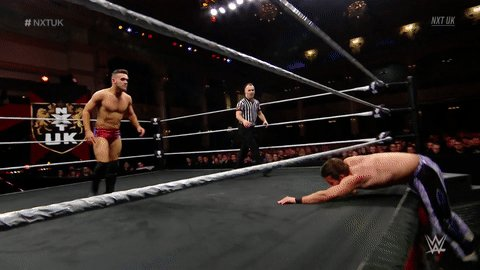 Replying to @NXTUK: You can't escape @AKidWrestler that easy... #NXTUK