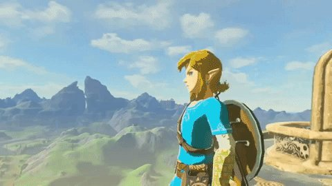 Such a huge world to explore in Breath of the Wild 🏔️