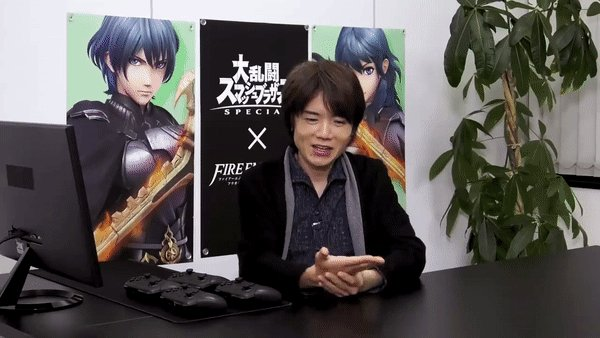 "A lot of people don't like how Smash showcases have ""wasted time / filler"" with Sakurai counting in binary or explaining the history of a game franchise, but its honestly one of my favorite parts. I LOVE seeing this natural fun side of Sakurai instead of a serious Direct style :)"