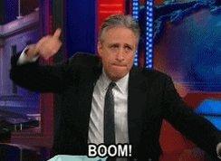 Seeing Jon Stewart always #MakesYouGoBoom 😃😆