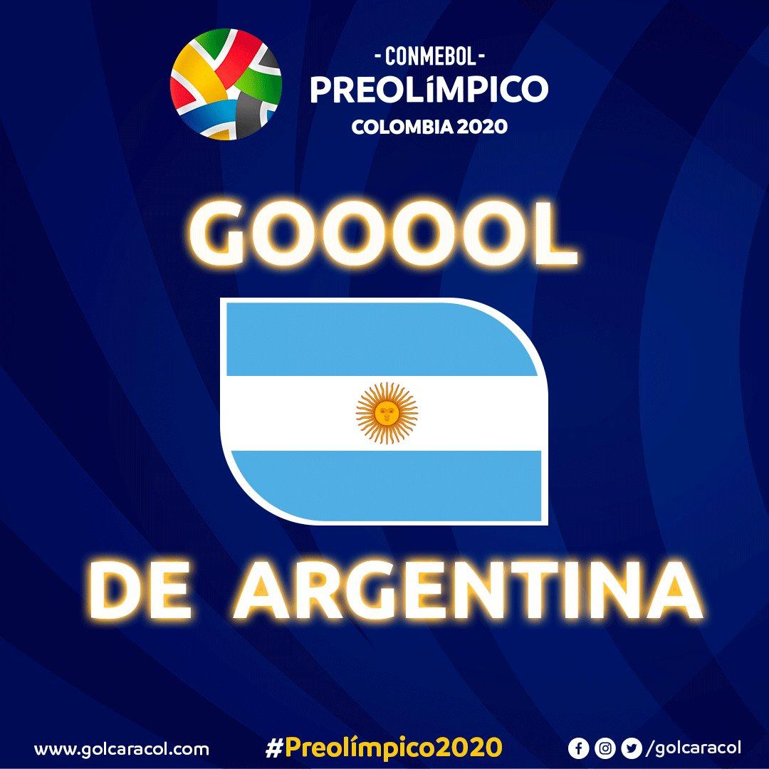 ¡GOOOL de Argentina! Gaich pone el 2-1 a favor de la albiceleste contra Colombia Vea el partido en vivo y gratis → http://bit.ly/38l96yV#VamosColombia