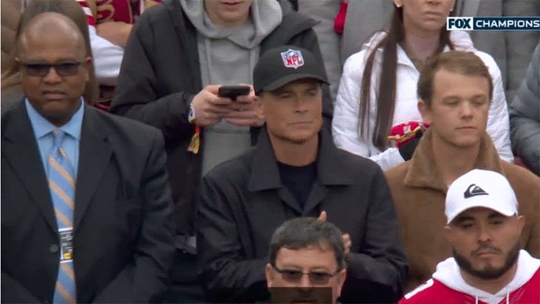Rob Lowe is a fed