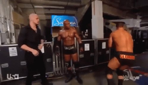 Sorry but when the Viking Raiders, Samoa Joe and Kevin Owens start walking your way... you get the fuck outta there kiddo #WWE #RAW #RAWGoHomeShow