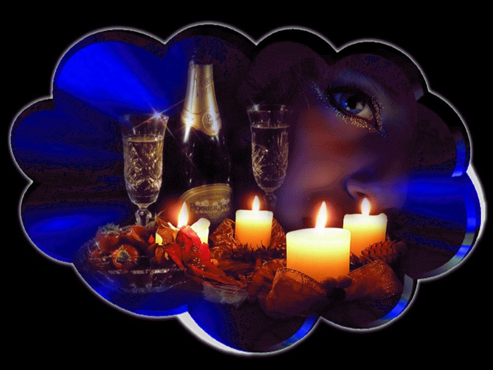 Красивые открытки с добрым вечером и ночью