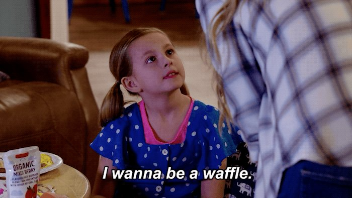 Who doesn't?! Waffles are freakin' DELICIOUS! 😋 #Outmatched