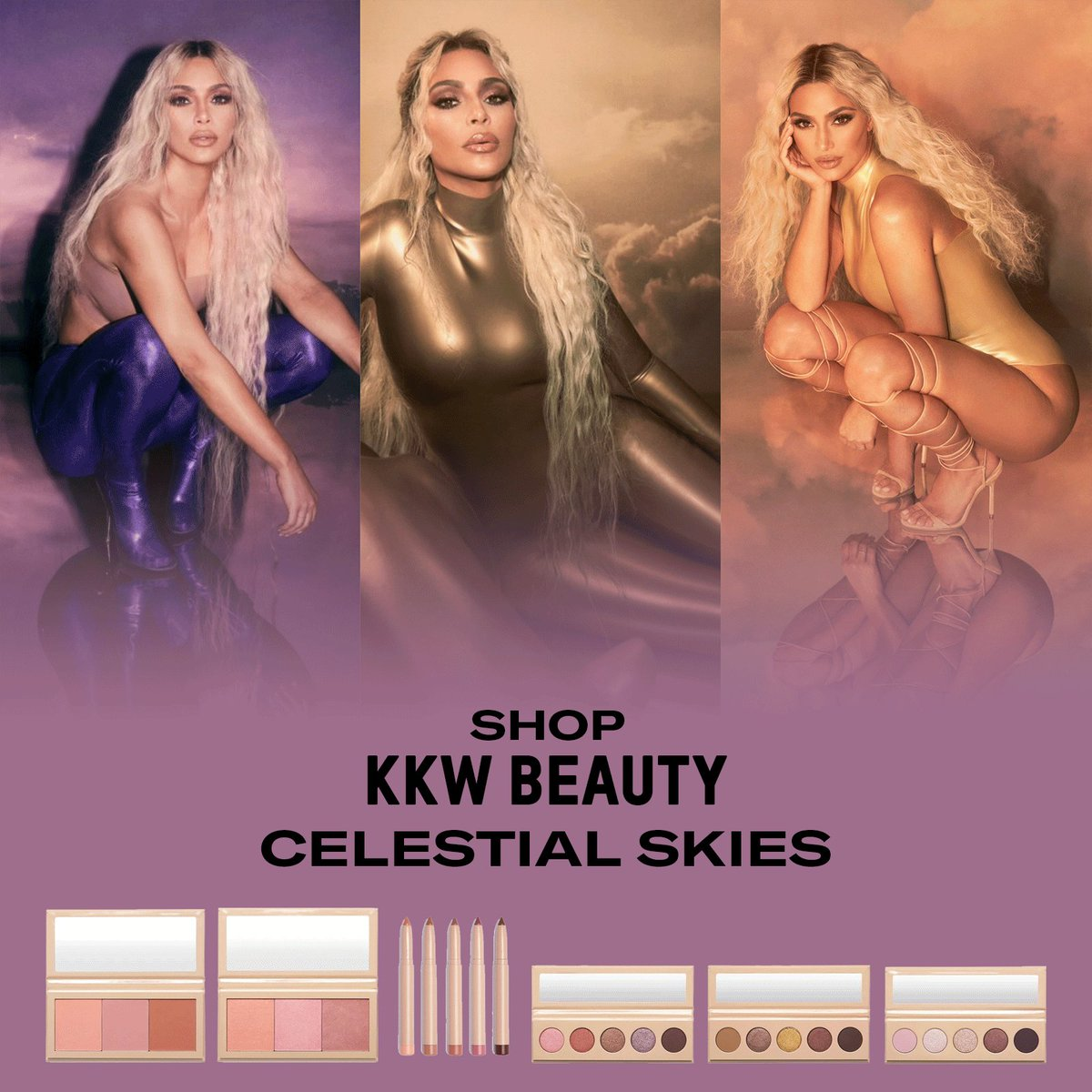 Shop @kkwbeauty  Celestial Skies Collection now only at  http://KKWBEAUTY.COM   #CelestialSkies