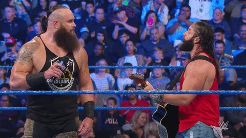 Eat your heart out, @DanAndShay . #SmackDown  @IAmEliasWWE  @BraunStrowman