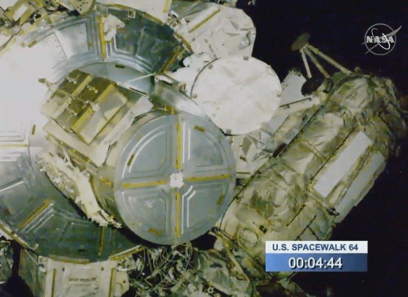 Last spacewalk for @AstroDrewMorgan and @astro_luca Drew Morgan exiting ISShttps://www.nasa.gov/nasalive
