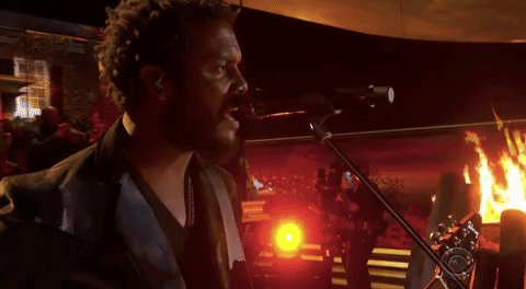 """Accompanied by @theroots, @GaryClarkJr performs a fiery """"This Land"""" on the #Grammys"""