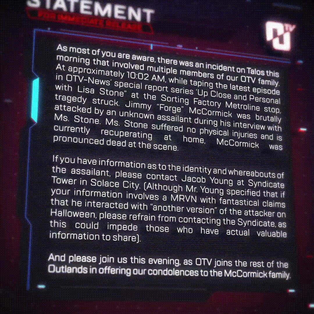 Image for the Tweet beginning: A statement from OTV regarding