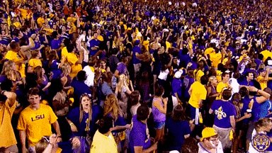 @Greg_Tish Some are tryo g to imitate the LSU dance thing.