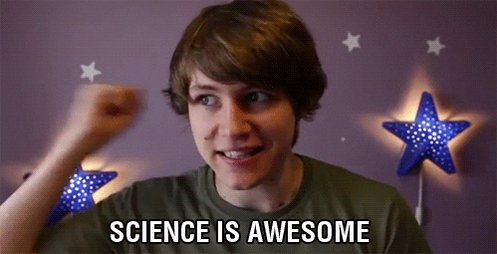 Also tomorrow means more Science.