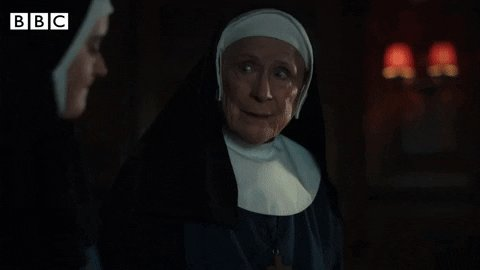 """""""When a secret weighs heavy, we imagine it's our burden alone. But the opposite is true, once it is spoken, it disappears.""""   Sister Monica Joan can be so wise ❤️ #CallTheMidwife"""