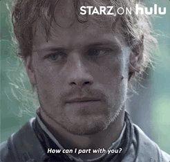 "Translation: ""Gotta go, Outlander Season 5 Premiere is now streaming with STARZ on Hulu"""