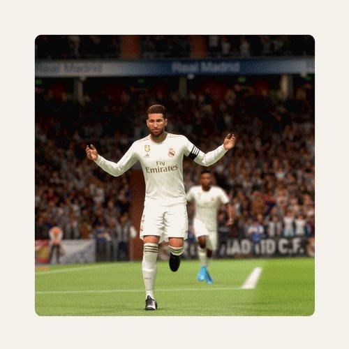 65分 | 2-1 | GOOOOOOOOL!  セルヒオ・ラモス @SergioRamos!  #RealMadridCelta | #FIFA20