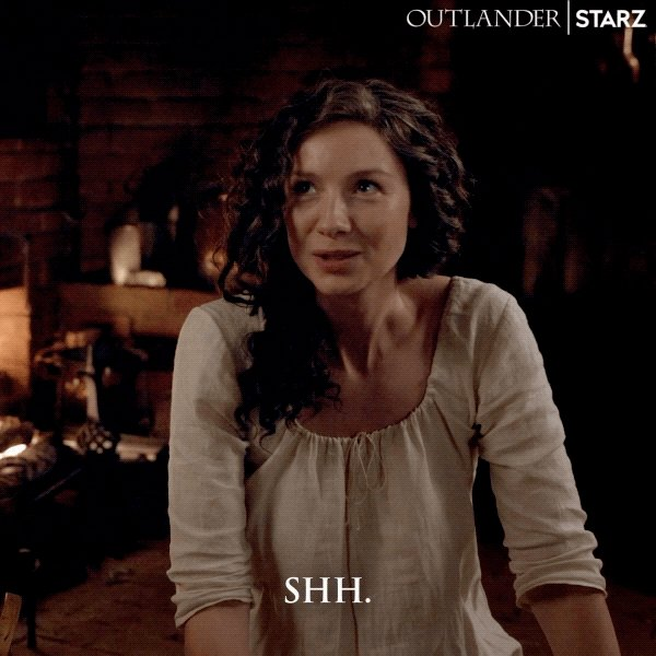 Replying to @Outlander_STARZ: Yeah Jamie, shh. There's important... stuff to do. #Outlander