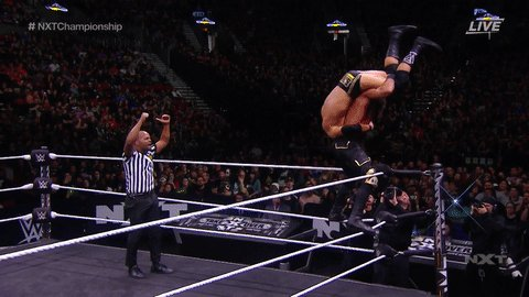 The fact that @AdamColePro kicked out after this...!!!!!@NXTCiampa #NXTTakeOver #NXTChampionship