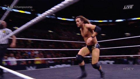 Taking flight, BAY BAY!#NXTTakeOver #NXTChampionship @AdamColePro @NXTCiampa