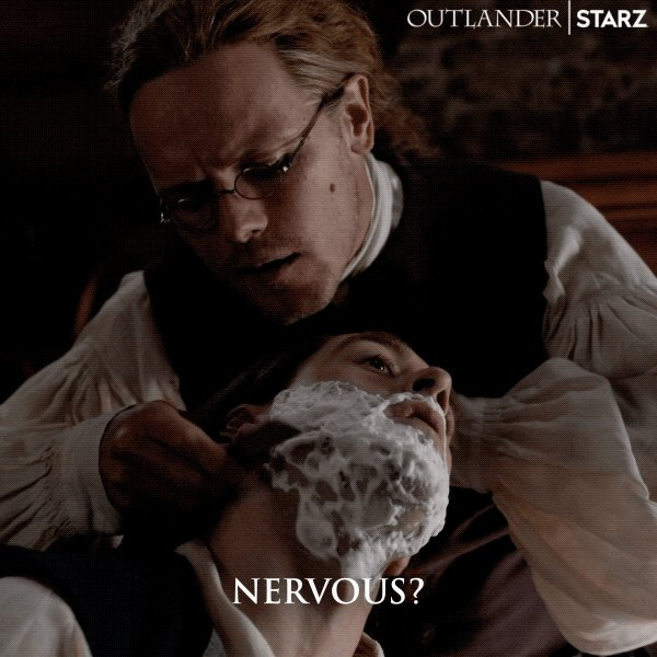 Not sure about you, but we're CERTAINLY nervous. #Outlander