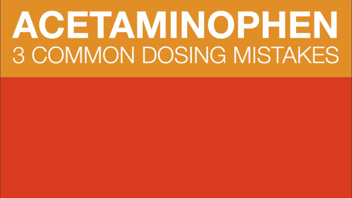 Image for the Tweet beginning: When dosing mistakes happen, it