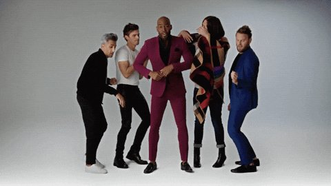 🎉 A mood knowing that this Fab Five and the @QueerEye reboot have been in our lives for two years today