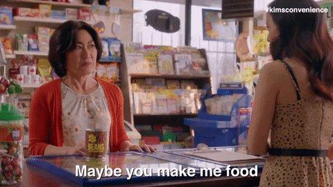 Umma isn't a restaurant, Janet. #KimsConvenience