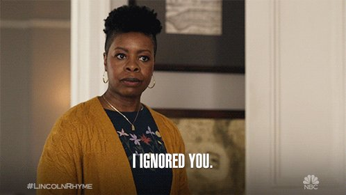 When someone tries to talk to you during #LincolnRhyme. West Coast, an all-new episode starts NOW on @NBC!