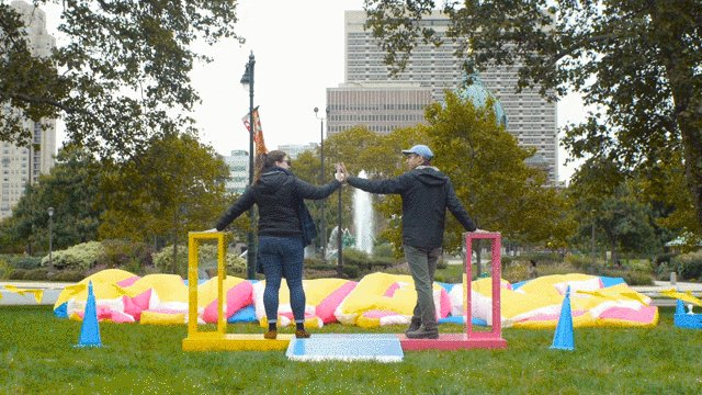 This giant inflatable sign is activated by two people holding hands: t.ted.com/SCJGcPK