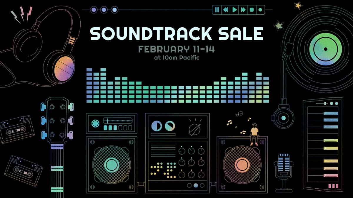 We're celebrating the recent intro of Soundtracks as a dedicated category in the Steam Library!  From now until Valentine's Day (Feb 14) , hundreds of favorite game soundtracks are on sale during the Steam Soundtrack Sale!