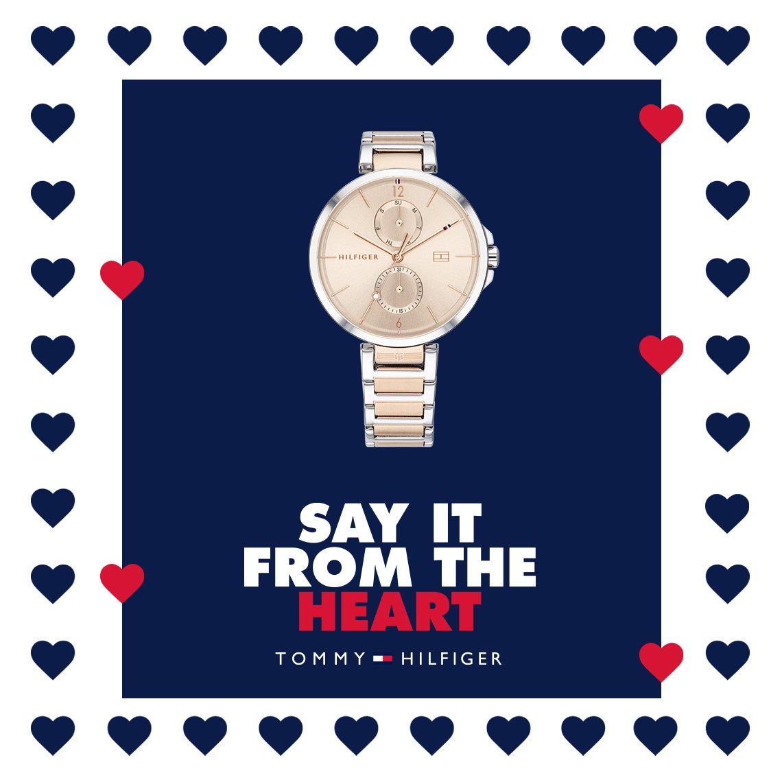 Say it from the heart this Valentine's Day with a Tommy Hilfiger watch 💕⌚️ http://bit.ly/Tommy-Hilfiger-1782127 … #TommyHilfigerWatches #ValentinesDayGifts