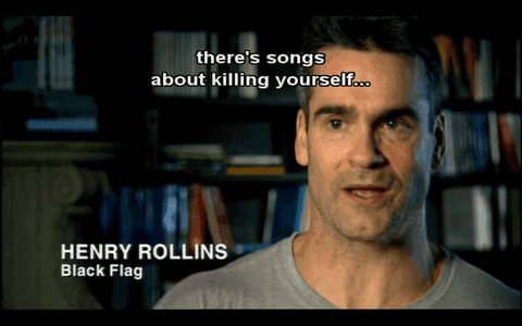 Happy 58th birthday to my favorite Black Flag singer and the worlds most serious man Henry Rollins.