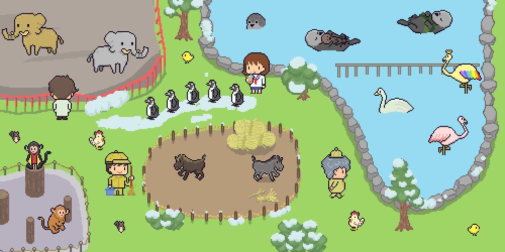 【事前予約受付開始】🐘『氷の動物園~IceZoo~』🐎の予約受付を開始しました!🖥️ただいま、鋭意製作中👨💻📱Android 📱iPhone/iPad #pixelart #ドット絵  #game #zoo #indiegame #indiedev #Unity #game