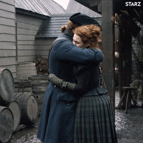 Jamie & Bree were super sweet. Obvs they decided to skip over the stages of forgiveness here; she's Da's wee lass and he doesna want to part wi' her. Jamie's emotions & reactions are the focal point here again, and Sam did superbly, playing the entire scene on the verge of tears.