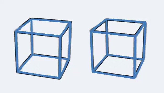 Visual Illusion: The cubes below are NOT moving. #flashingcubeillusion