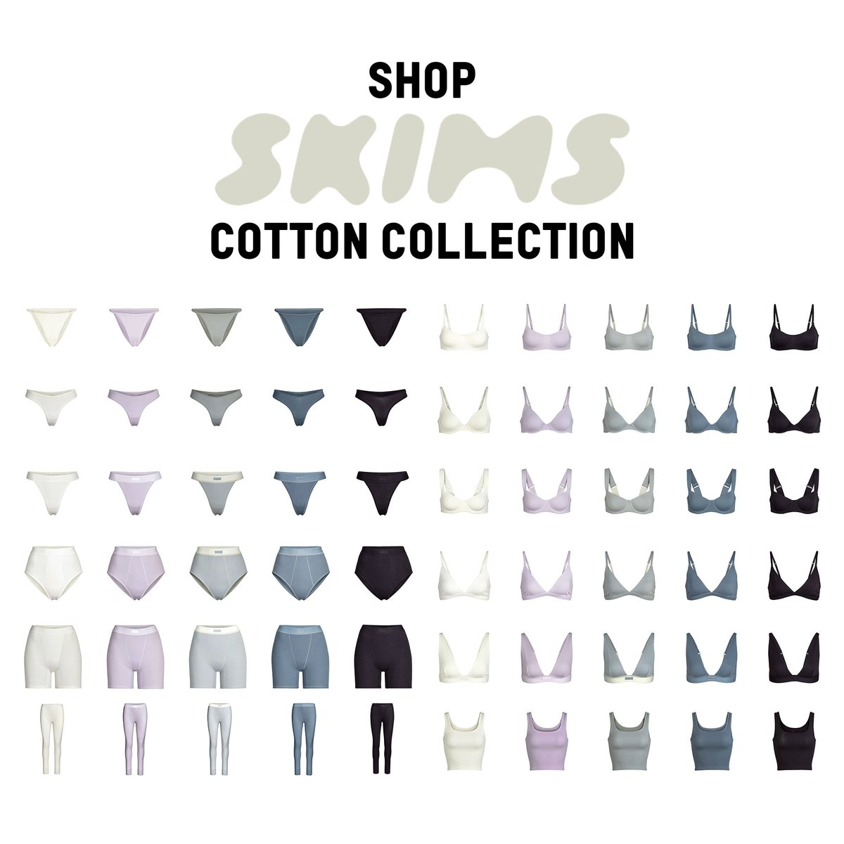 Shop the @skims Cotton Collection + 3 New Thermal Legging Colors now only at http://SKIMS.COM