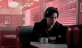 Just think about the first time we actually saw Jughead - he was on his laptop writing, saying It was midnight, when my old friend, Archie Andrews, arrived at the one place in town thats still open. He was looking for the girl next door. Instead, he found me. #riverdale