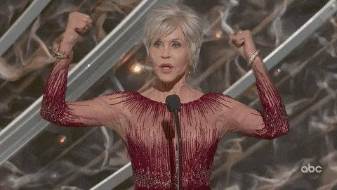 Okay, it's not the #AcademyAwards, but you'll still feel like this on our National Volunteer Call with @JaneFonda tonight! Make sure you're part of our National Volunteer Call with Jane at 8:30 PM ET.  http://ewar.ren/Volunteer-Call pic.twitter.com/LYBCgoPYSi