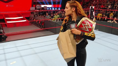 Visual representation of what we're willing to pay to see @BeckyLynchWWE get her hands on @QoSBaszler! #RAW (via @wwe)
