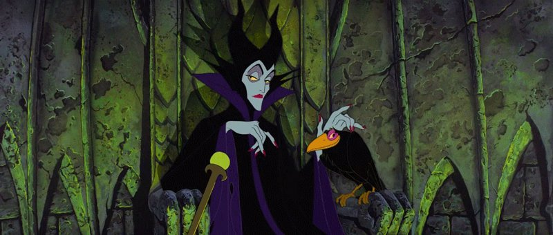 """DARK FAE & #Villain  MALEFICENT from the #film """"Sleeping Beauty""""(1959) is a green-skinned beauty/vain fairy-femme-fatale who curses Princess Aurora to prick her finger on a spinning wheel & die on her 16th bday after not being invited to the baby's christening. #FairyTaleTuesdaypic.twitter.com/PeFjmELh2R"""